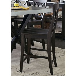 Keaton II Charcoal X Back Counter Chair