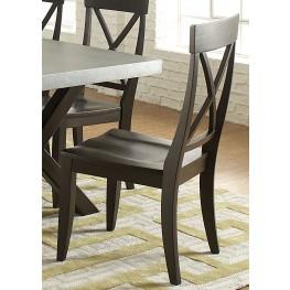 Keaton II Charcoal X Back Side Chair Set of 2