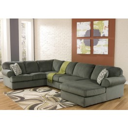Jessa Place Pewter Right Arm Facing Sectional