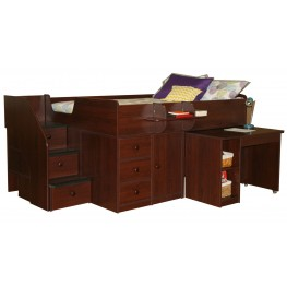 Captain's Full Storage Bed with Hideaway Desk