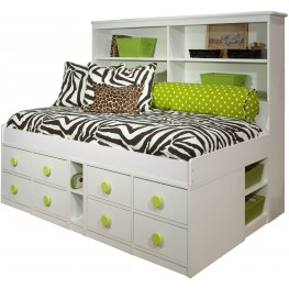 JR. Captain's Twin Bookcase Bed