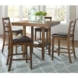 Tucson Dining II Oak 5 Piece Gathering Table Set