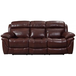 Edinburgh Brown Leather Power Reclining Sofa