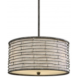 Smida 3 Light Rustic Hanging Shade