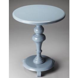 Loft Glossy Wedgewood Pedestal Table