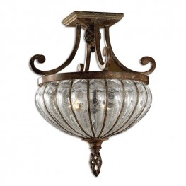Galeana 2 Light Glass Semi Flush Mount