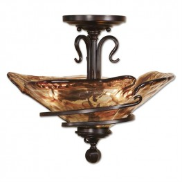 Vitalia Oil Rubbed Bronze Semi Flush Mount