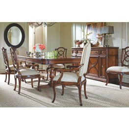 Arrondissement Heirloom Cherry Famille Pedestal Extendable Dining Room Set