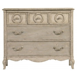 Arrondissement Vintage Neutral Rond Media Chest