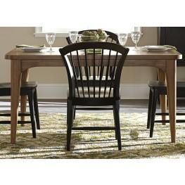 Candler Nutmeg Extendable Rectangular Leg Dining Table