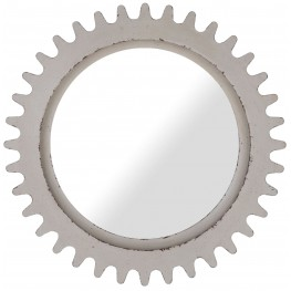 Epicenters Williamsburg Paint White Round Mirror
