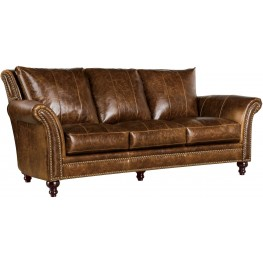 Georgetowne Butler Brown Leather Sofa