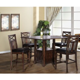 Augusta Distressed Cherry Counter Height Dining Room Set