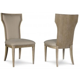 Greenpoint Sandstone Upholstered Back Side Chair Set of 2
