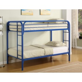 Fordham Blue Twin Over Twin Metal Bunkbed