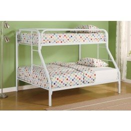 Fordham White Twin Over Full Bunk Bed