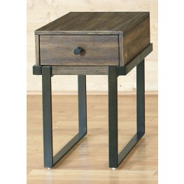 Paxton Wire Brushed Bronze Chair Side Table