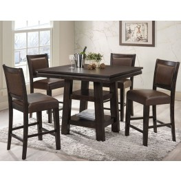 Montego Bay Black Oak Counter Height Dining Room Set