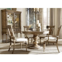 Pavilion Extendable Round Adjustable Height Dining Room Set
