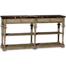 Pavilion Bisque 2 Drawer Console Table
