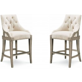 Arch Salvage Mist Reeves Bar Chair Set of 2