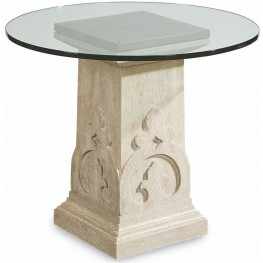 Arch Salvage Keyes Glass Top Martini Table