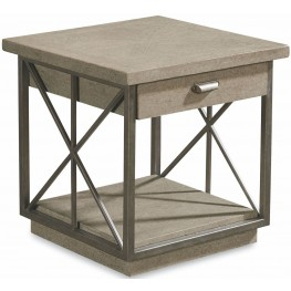 Arch Salvage Mist Burton End Table