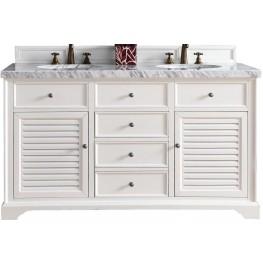 "Savannah 60"" Cottage White Double 4Cm Top Vanity"