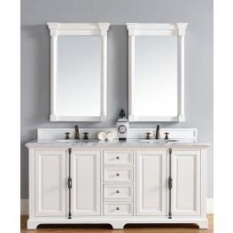 "Providence 72"" Cottage White Double 2CM Top Vanity Set"