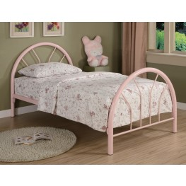 Rack em up Pink Twin Metal Bed