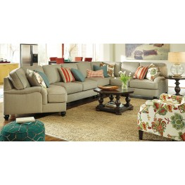 Kerridon Putty LAF Large Cuddler Sectional