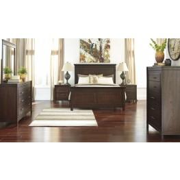 Timbol Warm Brown Panel Bedroom Set