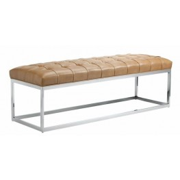 Sutton Peanut Leather Bench