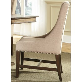 Armand Antique Brownstone Upholstered Side Chair Set of 2