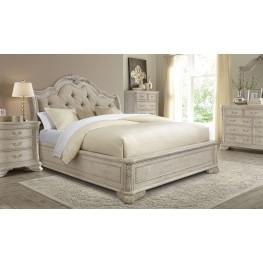 Renaissance Dove Grey Sleigh Upholstered Bedroom Set