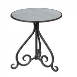 Poloa Mirrored Accent Table