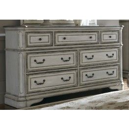 Magnolia Manor Antique White 7 Drawer Dresser