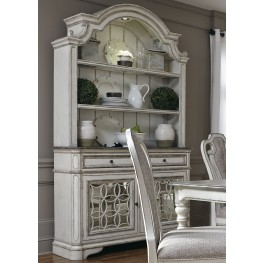 Magnolia Manor Antique White Buffet With Hutch