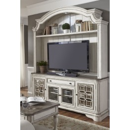 Magnolia Manor Antique White Entertainment Center