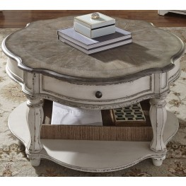 Magnolia Manor Antique White Round Cocktail Table