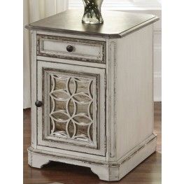 Magnolia Manor Antique White Chair Side Table