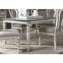 Magnolia Manor Antique White Extendable Rectangular Dining Table