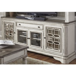Magnolia Manor Antique White Entertainment TV Stand