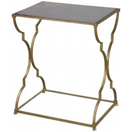 Caitland Antique Gold Accent Table