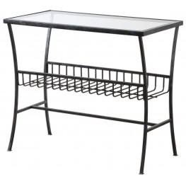 Tito Aged Iron Magazine Table
