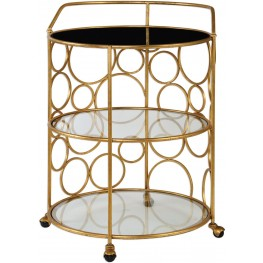Xandra Gold Serving Cart