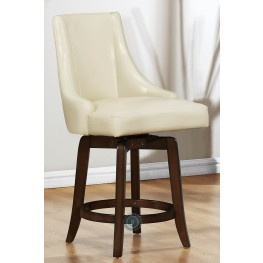 Annabelle Cream Counter Height Chair Set of 2