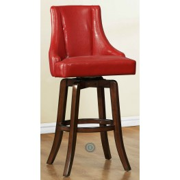 Annabelle Red Pub Height Chair Set of 2