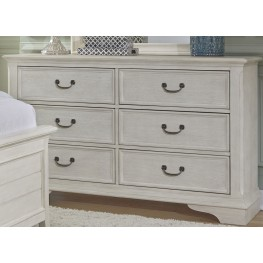 Bayside Youth White 6 Drawer Dresser
