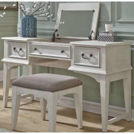 Bayside Youth White Vanity Desk